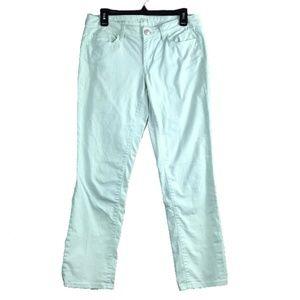Ann Taylor loft mint green jeans modern straight 6